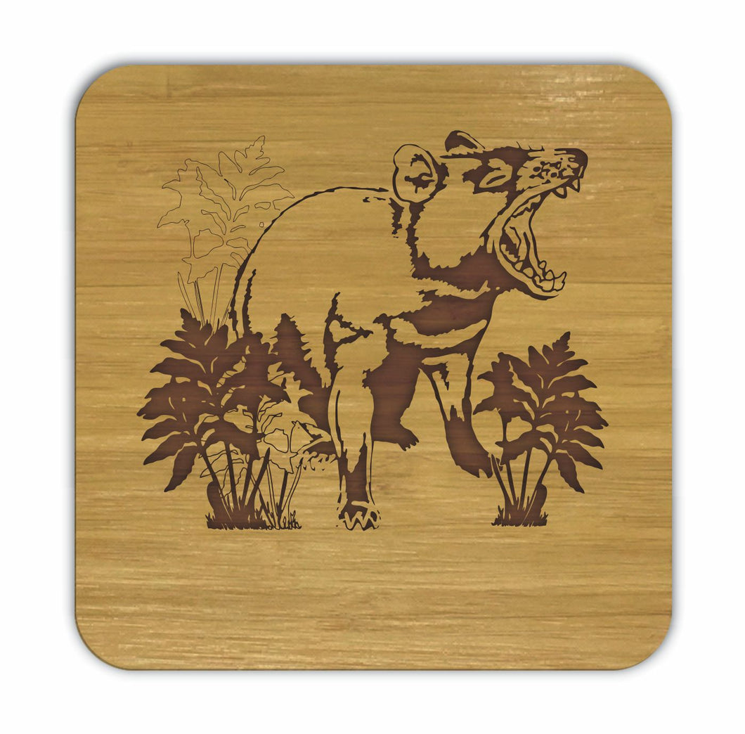 TASMANIAN DEVIL Bamboo Coasters Eco Friendly Set Of 4 Drink Coasters in Box - fair-dinkum-gifts