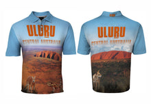 Load image into Gallery viewer, Uluru Sublimated Polo Shirt Ayers Rock  Dingo Australia Aussie Great Outdoors Outback