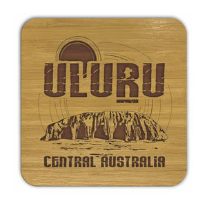 ULURU Bamboo Coasters Eco Friendly Set Of 4 Drink Coasters in Box - fair-dinkum-gifts