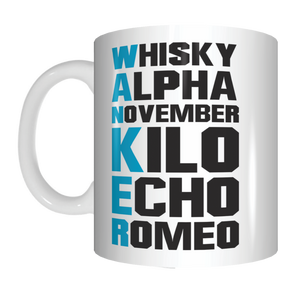 Phonetic Alphabet Wanker Work Office Coffee Mug Funny Novelty Gifts Whisky Alpha