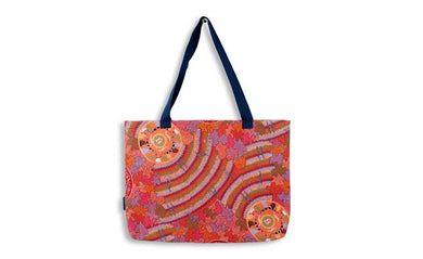 Women's Corroboree Large Tote Bag Aboriginal
