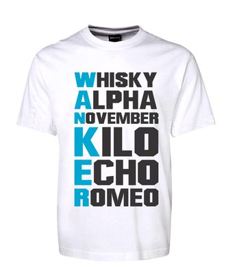 Whisky Alpha Wanker Phonetic Alphabet Rude Tee Acronym T-Shirt
