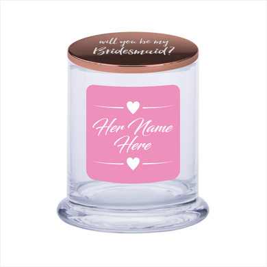 Will You Be My Bridesmaid Soy Scented Candle Gift Personalised Name - fair-dinkum-gifts