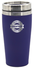 Load image into Gallery viewer, World's Greatest Teacher 475ml Travel Mug Coffee Flask - fair-dinkum-gifts