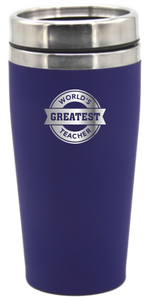 World's Greatest Teacher 475ml Travel Mug Coffee Flask - fair-dinkum-gifts