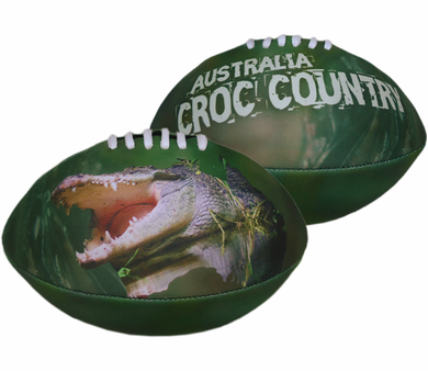 Croc Country Football Sublimated Neoprene Green Crocodile Kids Gift - fair-dinkum-gifts