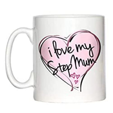 I Love My StepMum Pink Heart Coffee Mug Mothers Day Birthday Christmas GIFT Step Mum Stepmother