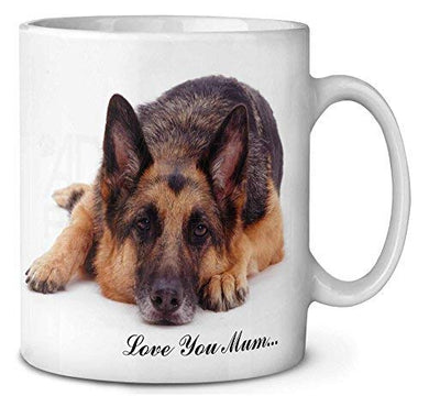Love You Mum PERSONALISED ANY BREED Dog Cat Any Pet Coffee Mug Mothers Day Birthday Christmas GIFT