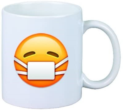 Quarantine Mug Coffee Mug Mask Emoji Office Gift
