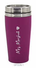 Load image into Gallery viewer, Personalised Bridesmaids Groomsman Gifts Wedding Travel Mug LARGE 475ml Gift Cup Choose Your Colour - fair-dinkum-gifts