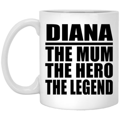 PERSONALISED Any Name Mum Hero Legend Coffee Mug Mothers Day Birthday Christmas Mum GIFT Pink and White