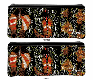 Large Neoprene Pencil Case Stationery or Make Up Bag Australian Travel Case Aussie Design - fair-dinkum-gifts