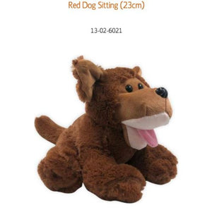 *CLEARANCE* Red Dog Sitting Plush Toy Puppy Australia - 23cm