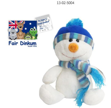 Steven Snowman Plush Toy 18cm With Scarf
