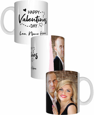 Happy Valentines Day Personalised Name Coffee Mug Gift Romantic Novelty Present - fair-dinkum-gifts