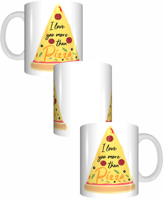 I Love You More Than Pizza Coffee Mug Gift Romantic Novelty Present Giant Pizza Slice Valentines Day