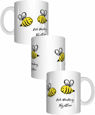 Bee Mug We Beelong Together Valentines Day Coffee Mug Gift Romantic Present - fair-dinkum-gifts