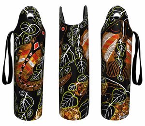 Wine Bottle Cooler Holder Large Range of Styles Colours Aussie Designs Aboriginal Indigenous - fair-dinkum-gifts