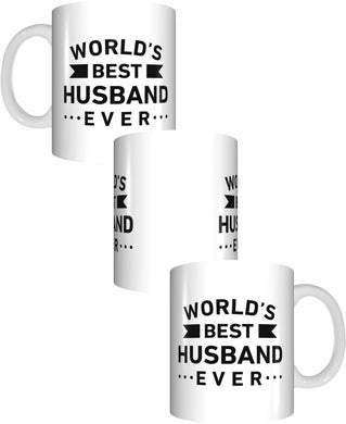 Worlds Best Husband Ever Coffee Mug Gift Romantic Novelty Present Valentines Day
