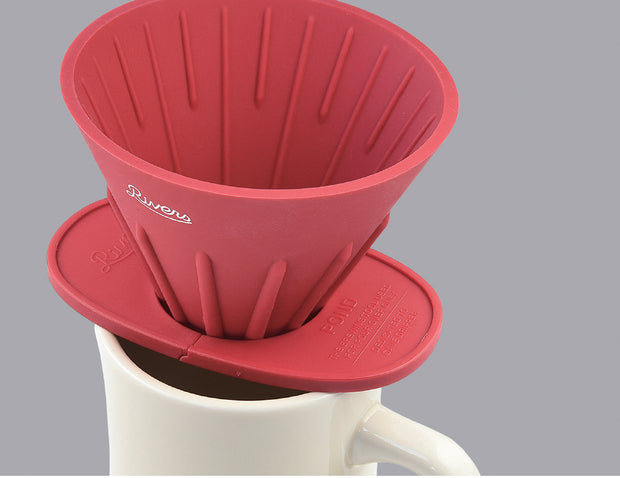 Rivers Cave Reversible Coffee Pour Over with Pond Holder - Red