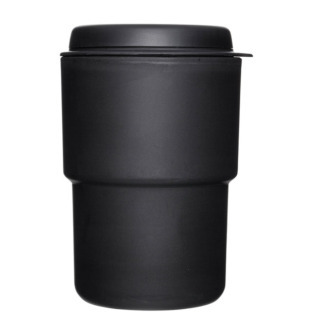 Rivers Wallmug Demita - Black Reusable Coffee Cup (Flat White Size - 300ml)