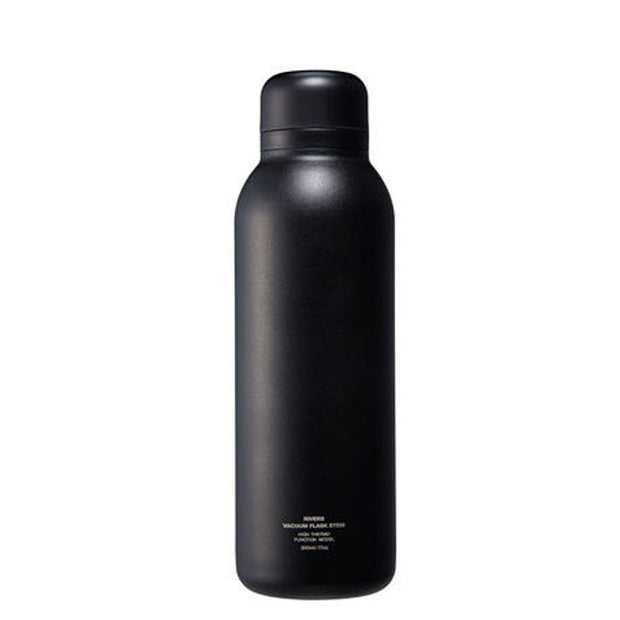 Rivers Stem Double Walled Stainless Steel Vacuum Flask (500ml) - Black