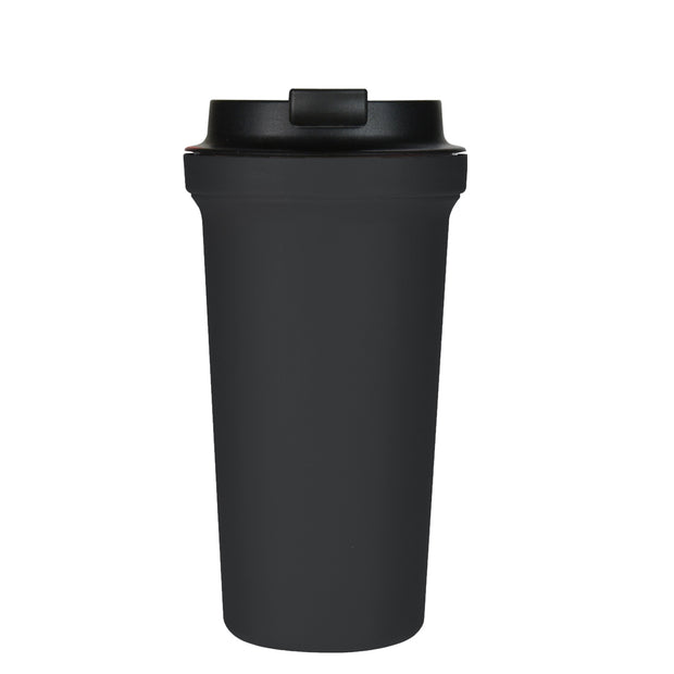 Rivers Wallmug Bearl - Black Reusable Travel Coffee Cup Large (Latte Size - 400ml)