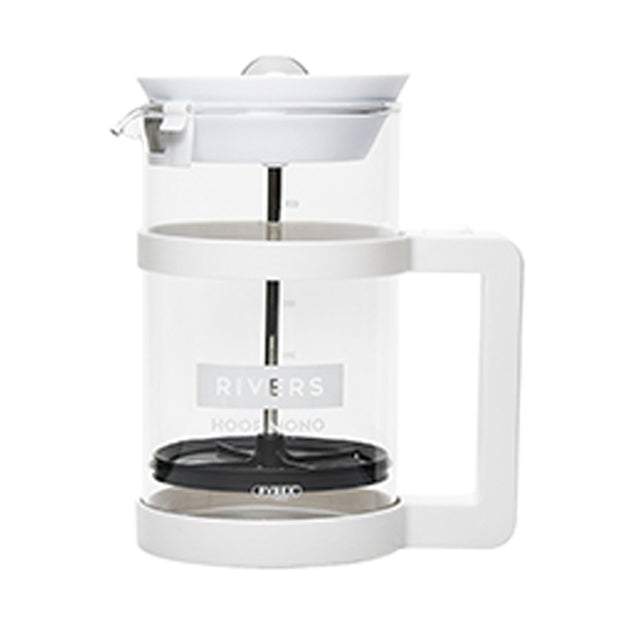 Rivers Hoop Mono White French Coffee Press (720ml)