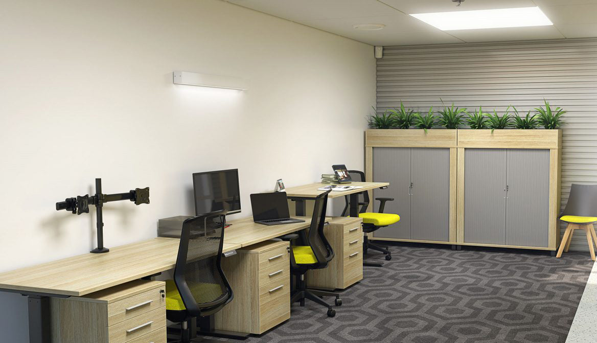 Straigt Desks, Workstations, Shared Desks, Slab End or Steel Frames Free Shipping New Zealand