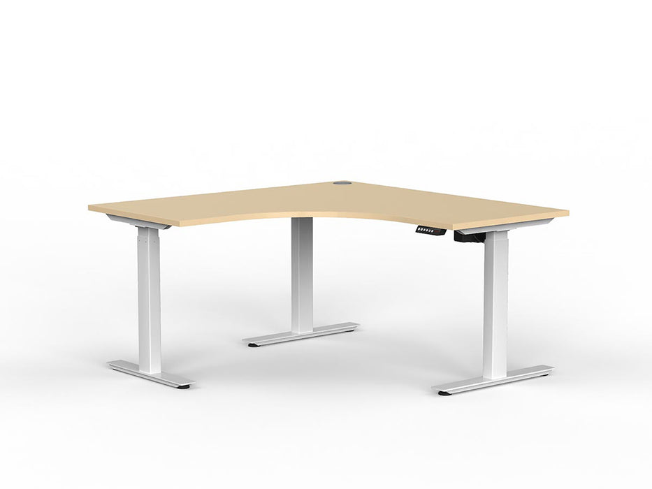 Agile White Electric Height Adjustable 1.5m Workstation