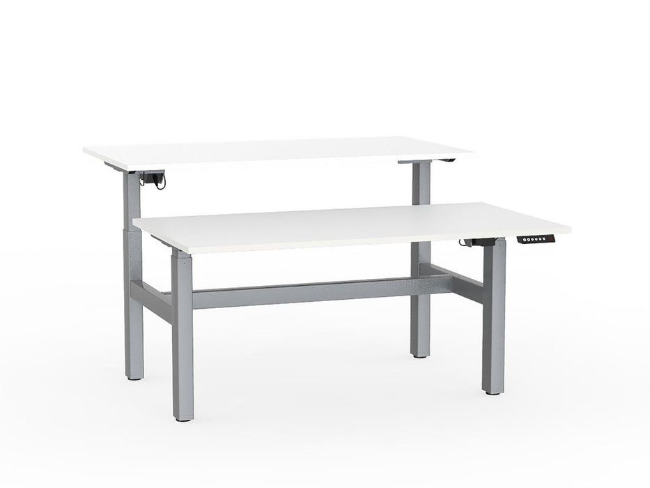 Agile Silver Electric Height Adjustable 1.5m Double Desk