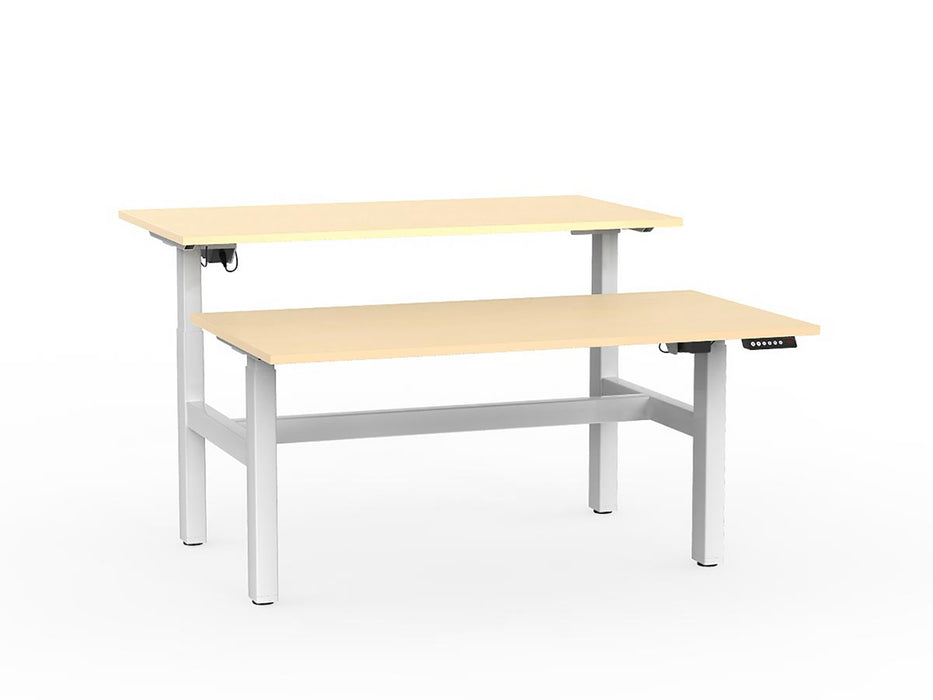 Agile White Electric Height Adjustable 1.5m Double Desk