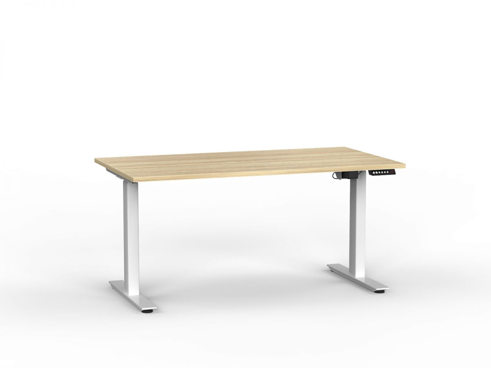 Agile White Electric Height Adjustable 1.5m Desk