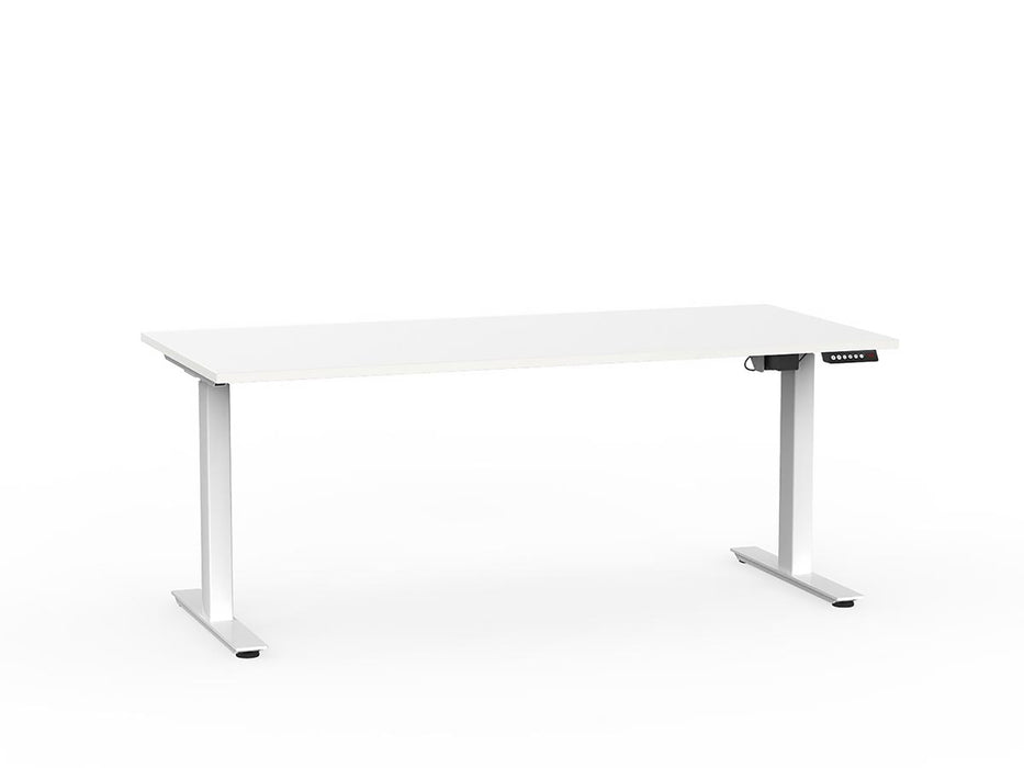 Agile White Electric Height Adjustable 1.8m Desk