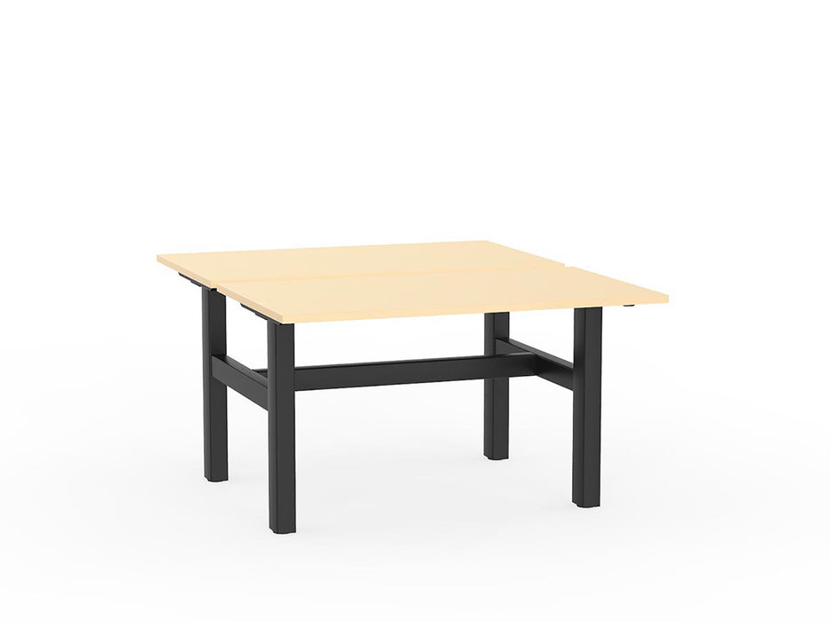 Agile Black Fixed 1.2m Double Desk