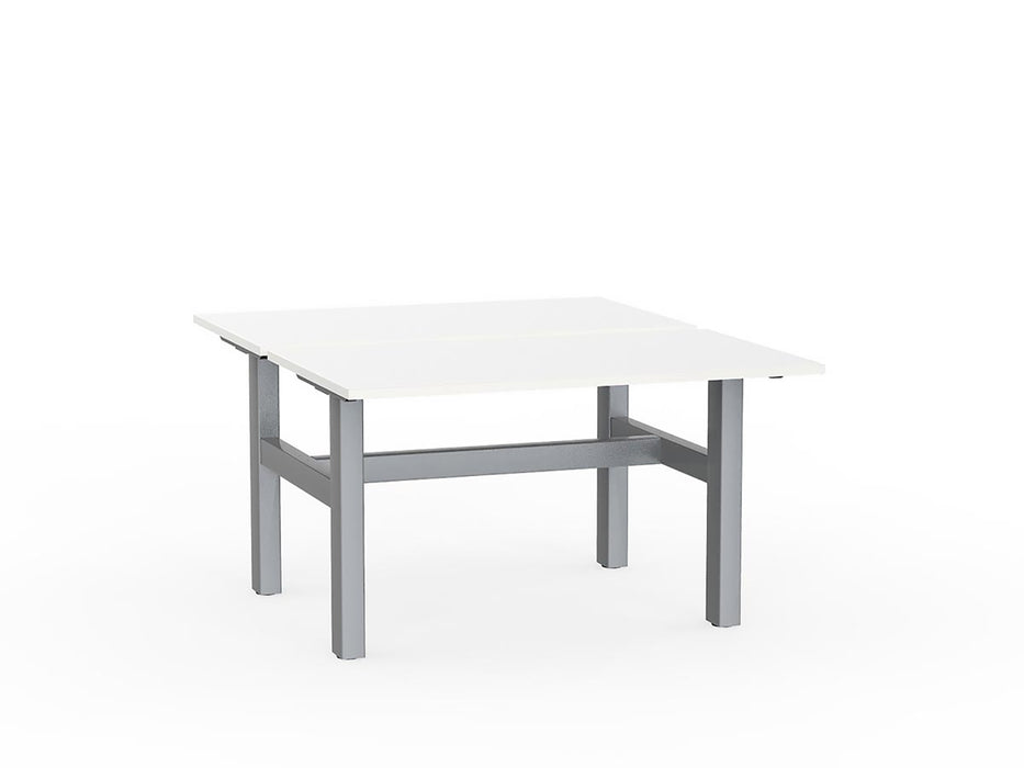 Agile Silver Fixed 1.2m Double Desk