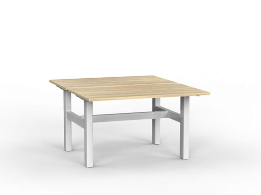 Agile White Fixed 1.2m Double Desk