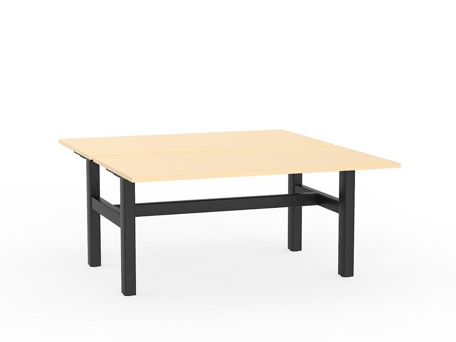 Agile Black Fixed 1.5m Double Desk