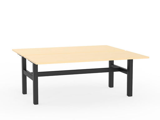 Agile Black Fixed 1.8m Double Desk