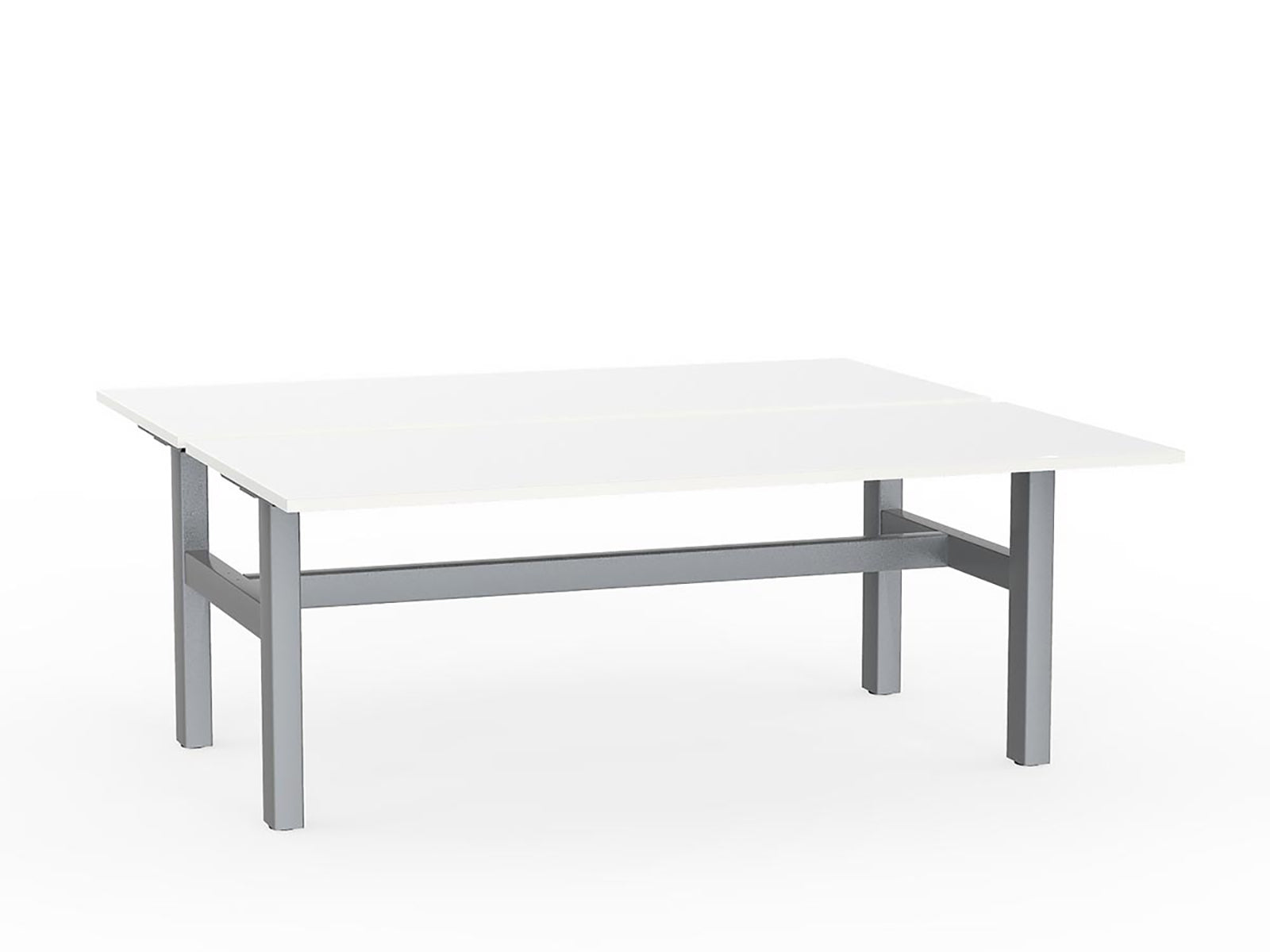 Agile Silver Fixed 1.8m Double Desk