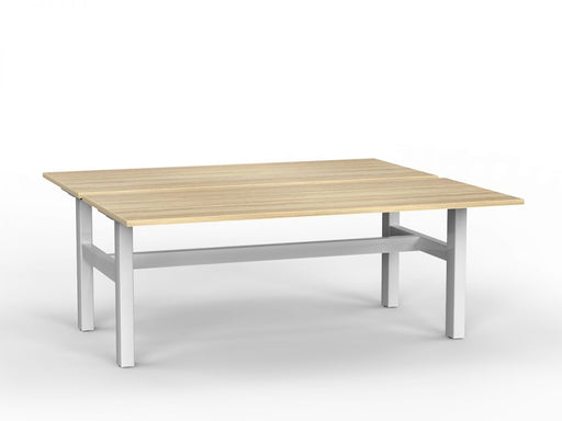 Agile White Fixed 1.8m Double Desk
