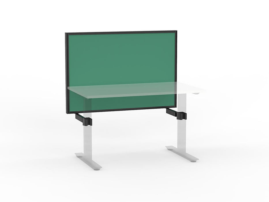 Agile Black Frame Mounted Screen 1.2m - Workspace Furniture Home and Office Frame Mounted Partitions