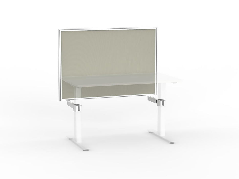 Agile White Frame Mounted Screen 1.2m - Workspace Furniture Home and Office Frame Mounted Partitions