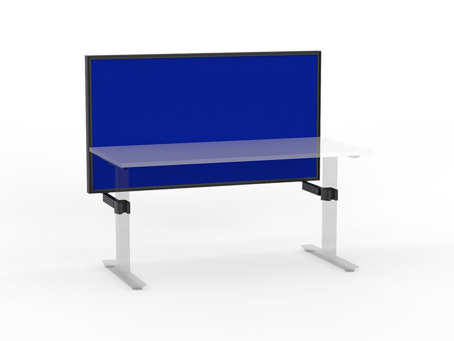 Agile Black Frame Mounted Screen 1.5m - Workspace Furniture Home and Office Frame Mounted Partitions