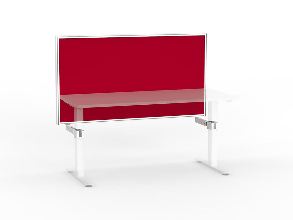 Agile White Frame Mounted Screen 1.5m - Workspace Furniture Home and Office Frame Mounted Partitions