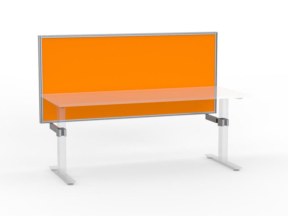 Agile Silver Frame Mounted Screen 1.8m - Workspace Furniture Home and Office Frame Mounted Partitions
