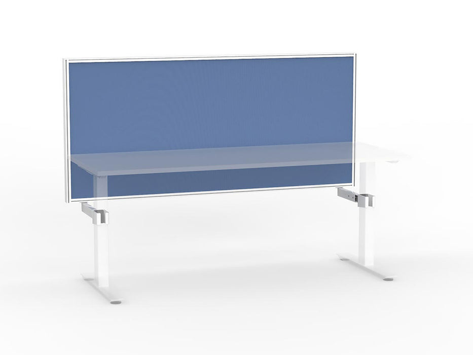 Agile White Frame Mounted Screen 1.8m - Workspace Furniture Home and Office Frame Mounted Partitions