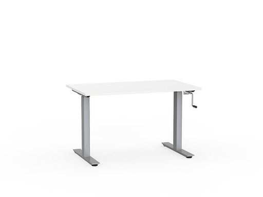 Agile Silver Winder Height Adjustable 1.2m Desk