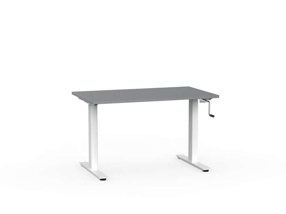 Agile White Winder Height Adjustable 1.2m Desk