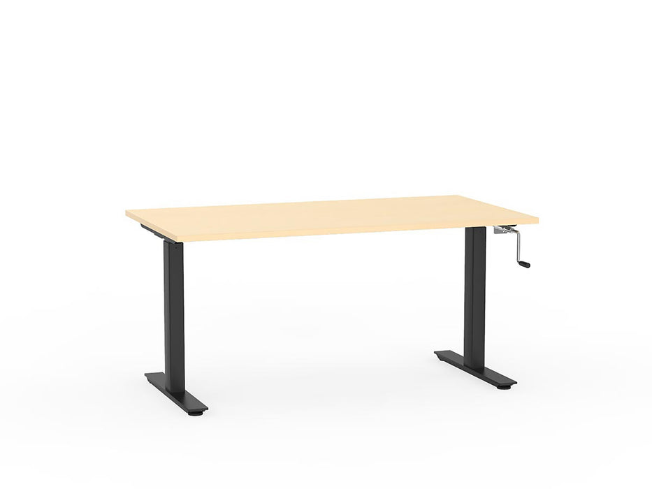Agile Black Winder Height Adjustable 1.5m Desk